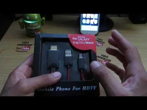 Cable HDMI para Samsung Galaxy S3-S4-S5- Note 2 -3- 4
