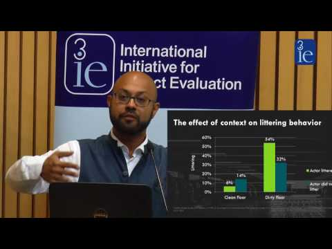Peer comparison interventions: cases from developing countries, 3ie Delhi seminar
