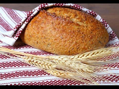 Хлеб с отрубями на кефире (без дрожжей)