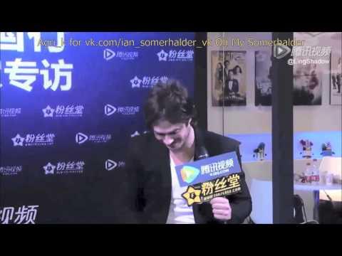 Ian Somerhalder Shanghai Interview Part 1 Rus Sub
