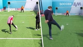 Southampton fans & Tony Adams take on the Volley Challenge 🙌