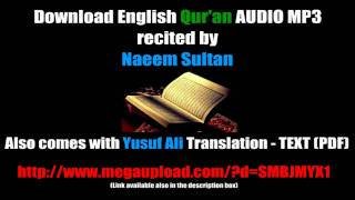 FREE Al-Quran MP3 - ENGLISH without Arabic Recitation Download