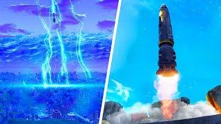 FULL FORTNITE ROCKET LAUNCH! (NEW CRACK IN THE SKY) - Fortnite Battle Royale