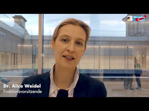 Alice Weidel zur Kanzlerwahl - AfD-Fraktion im Bundestag
