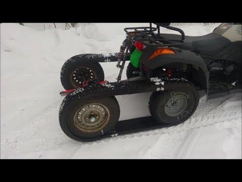 Bygga ATV halvband - YouTube