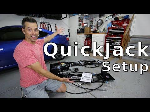 QuickJack car lift unboxing and setup