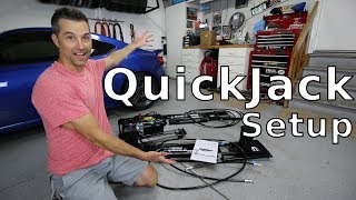 QuickJack car lift unboxing and setup