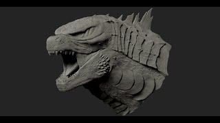 Godzilla 2014 Sculpt (Legendary's Godzilla)