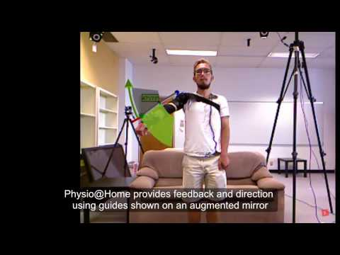 Physio@Home: Exploring Visual Guidance and Feedback Techniques for Physiotherapy Exercises