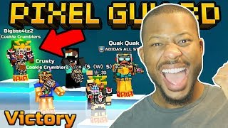 VICTORY! BEST FORT SIEGE GAME EVER!! | Pixel Gun 3D