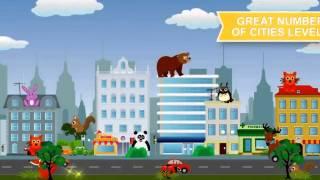 Зверюшки и Города. Лучшая мобильная бесплатная игра для детей