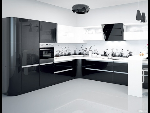 Черная Кухня в Интерьере - 2018 / Black Kitchen in the interior / Schwarze Küche im Inneren