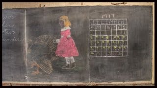 haunting 100 year old chalkboards found a look back in time