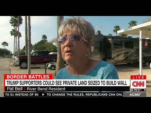Trump supporters Revolt against Wall when it puts them in Mexico