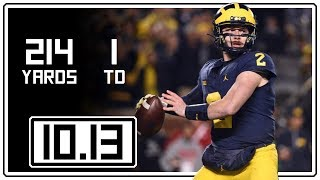 Shea Patterson Full Highlights Michigan vs Wisconsin || 10.13.18 || 214 Total Yards, 1 TD