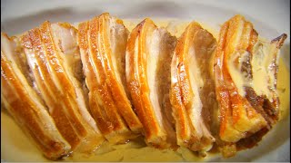 Marco Pierre White recipe for Pork belly with cider and cream sauce