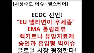 """[시장주도 이슈+헬스케어]ECDC 선언!""""EU 델타변이…"""