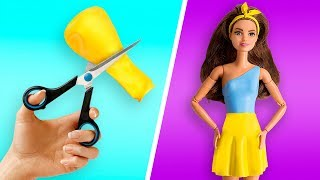 👗 BARBIE DOLL HACKS: DIY Barbie Dresses with Balloons Easy No Sew Clothes for Barbies