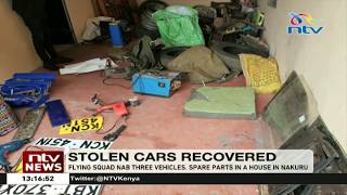 Flying squad nab three vehicles, spare parts in a house in Nakuru