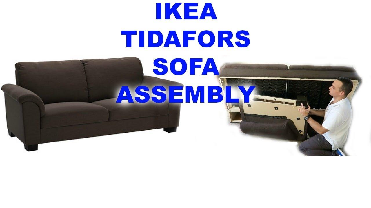 IKEA TIDAFORS Three Seat Sofa Assembly   YouTube