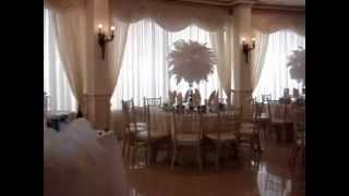 Peacock Themed Centerpiece RENTALS with Dyed Orchids at Green Tree Country Club New Rochelle NY