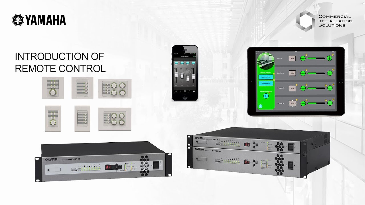 Download Yamaha MTX/MRX Accessory Controller - Introduction