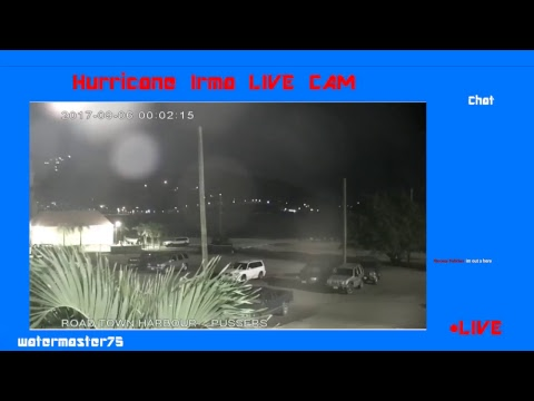 Hurricane Irma LIVE WEBCAM | Road Town Harbor - Leeward islands | STRENGTHENS TO CAT 5