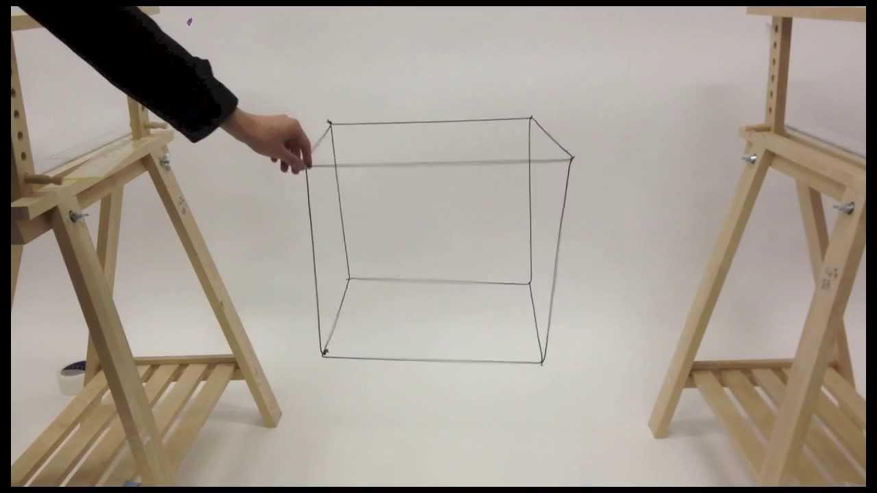 Physical wire-frame cube - YouTube