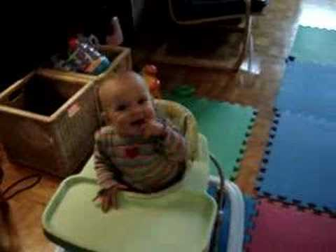 9 month old baby dances to Bob Marley