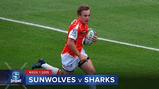 HIGHLIGHTS: 2019 Super Rugby Week 1 Sunwolves v Sharks
