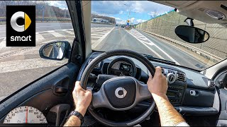 2009 Smart Fortwo II Coupe (1.0 MHD 61 HP) | POV Test Drive #706 Joe Black