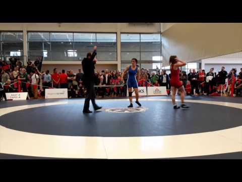 2015 Senior National Championships: 69 kg Kayla Brodner vs. Olivia DiBacco