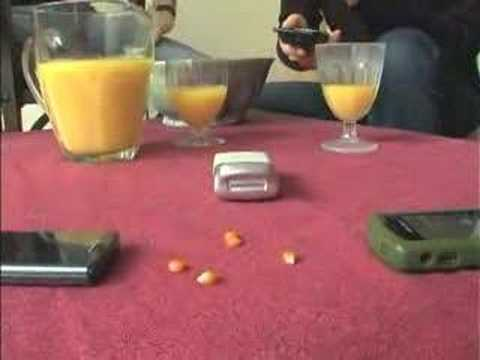 Pop corn with cell phones