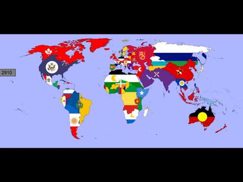 The Future of the World with Flags: 2500 - 3000