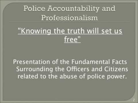 Police Accountability & Professionalism Mtg -The Truth About Former Captain Charles Cherry
