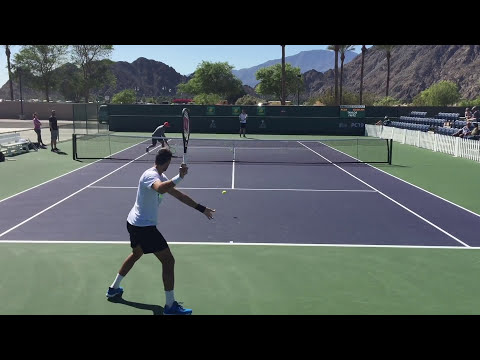 Juan Martin Del Potro / Taylor Fritz 3/8/16 Indian Wells BNP Paribas Open Practice