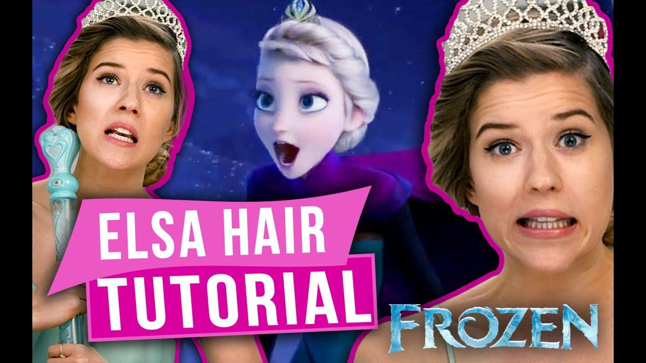Frozen Hair Tutorial   Elsa Coronation Hair Style