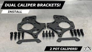 Gktech 2pot Nissan Dual Caliper Brackets - Install