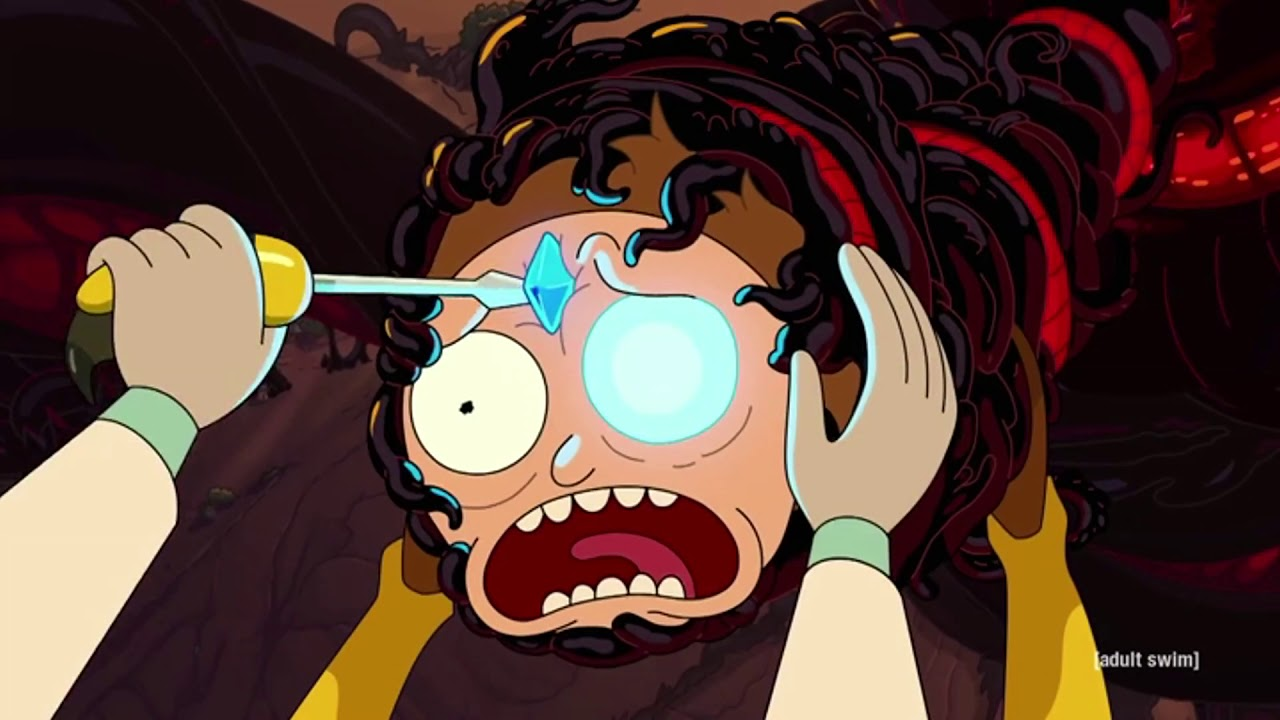 Symbiote Morty vs Wasp Rick and Normal Rick - Rick and Morty