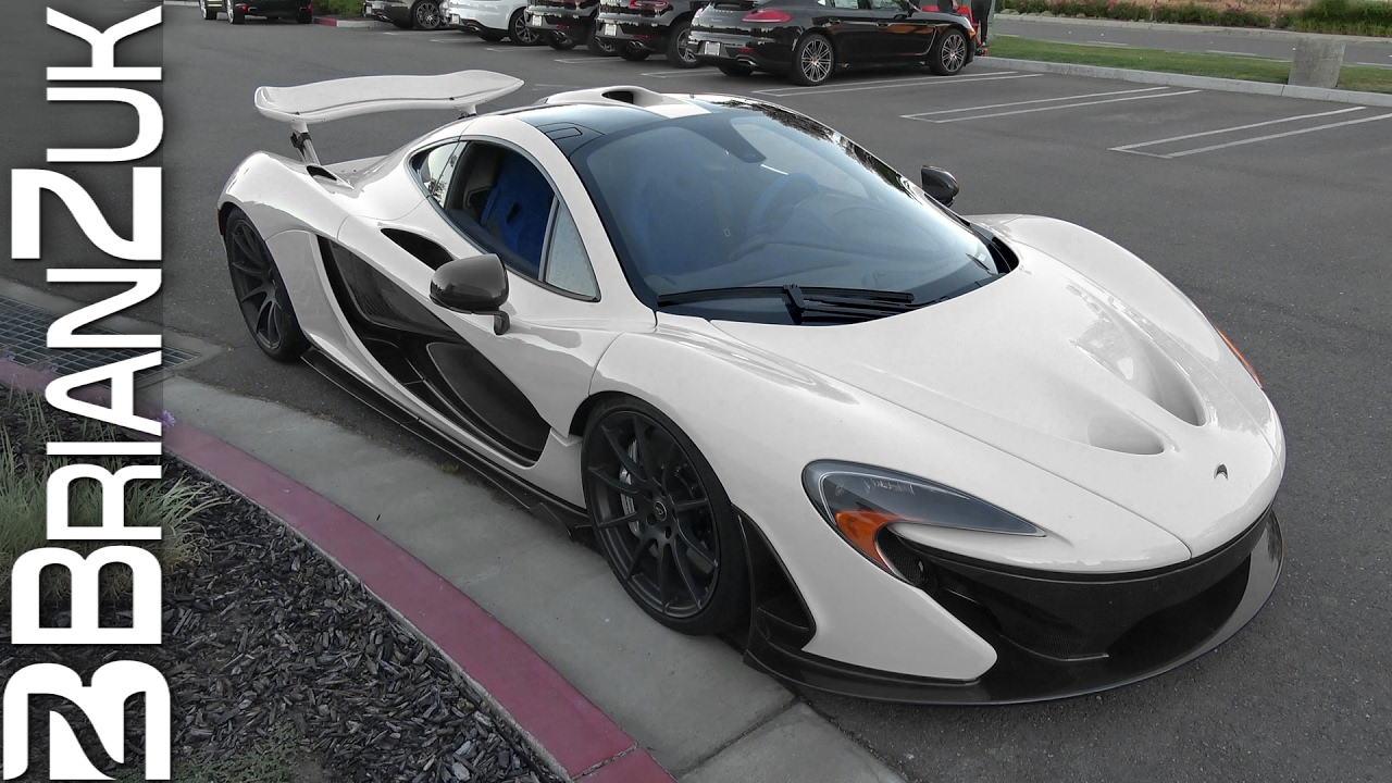 White McLaren P1 with Blue Interior - YouTube