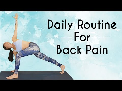 Daily Yoga Routine for Low Back Pain ♥ 10 Mins Pain Relief, Spinal Flexibility, Psoas Stretch, Hips