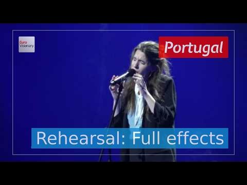 Salvador Sobral (Luísa Sobral) - Amar Pelos Dois - Portugal - Rehearsal (Full Effects) - ESC2017