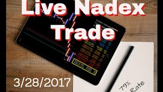 Nadex Binary Options Live Trade 3/28/2017