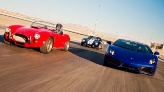 Factory Five Kit Cars vs a Lamborghini Gallardo! – HOT ROD Unlimited Episode 27