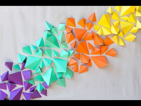 Feature Wall Wallpaper 3d How To Make Kraft Paper Geometric Backdrop Youtube