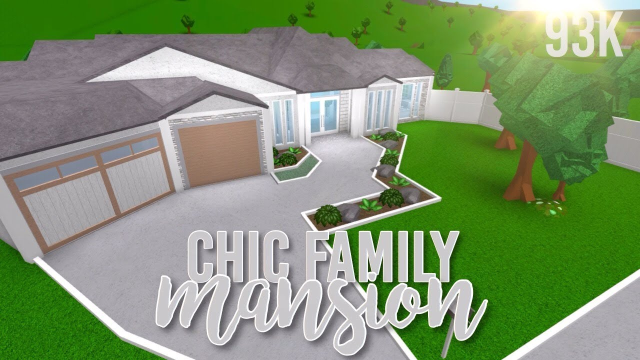 Roblox Bloxburg Chic One Story Family Mansion Youtube