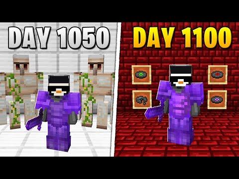 I Survived 1,100 Days in HARDCORE Minecraft...