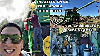 MI TRILLADORA JOHN DEERE (diversión) CON MARKITOS TOYS Y El CHIQUETE