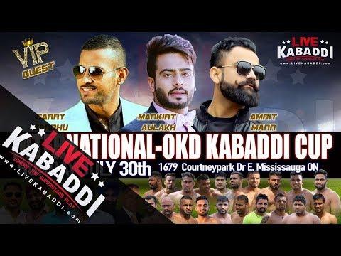 LIVE Canada Kabaddi - International OKD Kabaddi Cup 2017