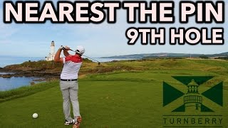 BEST PAR 3 IN GOLF!? Turnberry 9th Hole - Nearest The Pin